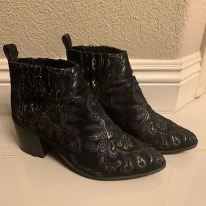 Jeffrey Campbell Boots witH silk threaded pattern